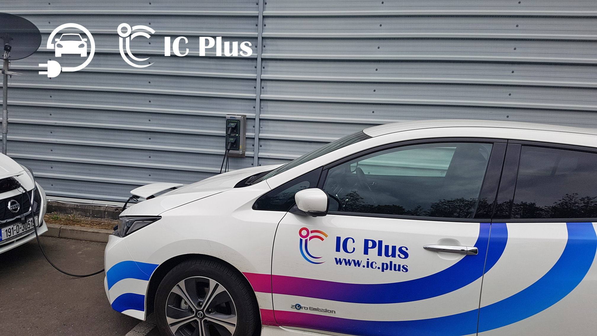 IC Plus Car Plugged into EV Charger