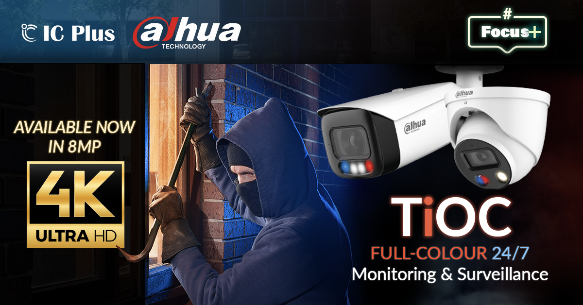 Dahua TiOC (3 in 1 Cameras) Full Colour, Active Deterrence & AI